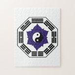 I Ching Black Lotus YinYang Jigsaw Puzzle