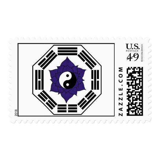 I Ching Black Lotus YinYang Postage