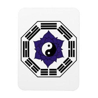 I Ching Black Lotus YinYang Rectangular Photo Magnet