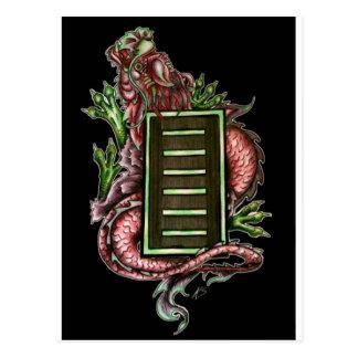 I Ching Dragon on black Postcard