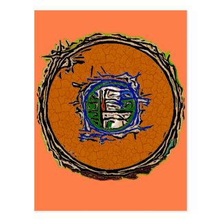 I Ching Earth Postcard