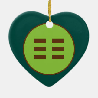 I Ching Earth Trigram (Kun) Ceramic Ornament