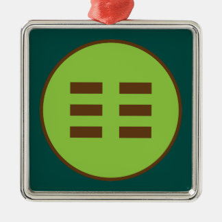 I Ching Earth Trigram (Kun) Metal Ornament