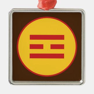 I Ching Fire Trigram (Li) Metal Ornament
