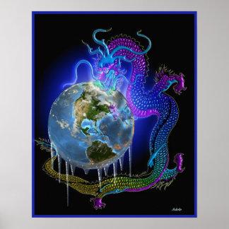 I Ching, hexagram2, la tierra receptiva Póster