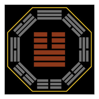 """I Ching Hexagram 11 T'ai """"Tranquility"""" Poster"""