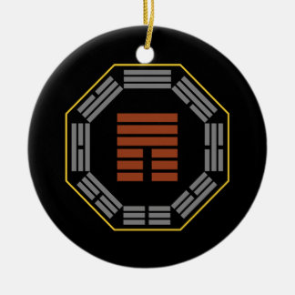 I Ching Hexagram 12 P i Obstruction Christmas Ornament