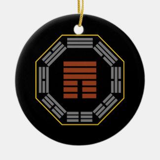 "I Ching Hexagram 12 P'i ""Obstruction"" Ceramic Ornament"
