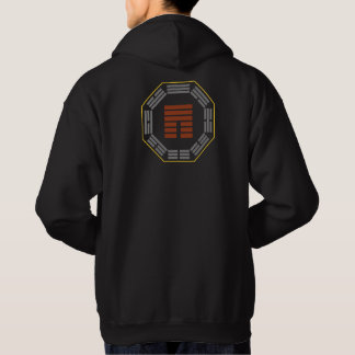 """I Ching Hexagram 12 P'i """"Obstruction"""" Hoodie"""