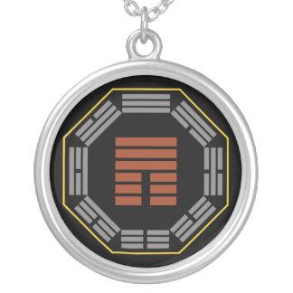 "I Ching Hexagram 12 P'i ""Obstruction"" Round Pendant Necklace"