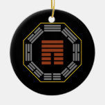 """I Ching Hexagram 12 P'i """"Obstruction"""" Double-Sided Ceramic Round Christmas Ornament"""