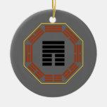 "I Ching Hexagram 12 P'i ""Obstruction"" Christmas Tree Ornament"