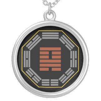 """I Ching Hexagram 18 Ku """"Restoration"""" Round Pendant Necklace"""