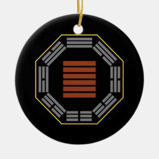 "I Ching Hexagram 1 Ch'ien ""The Creative"" Ceramic Ornament"