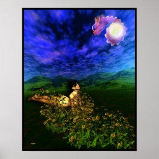 I Ching, Hexagram 1, el creativo Poster