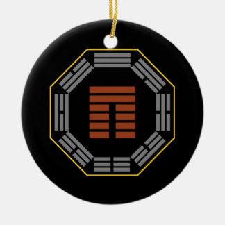 "I Ching Hexagram 20 Kuan ""Viewing"" Ceramic Ornament"
