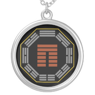"""I Ching Hexagram 20 Kuan """"Viewing"""" Round Pendant Necklace"""