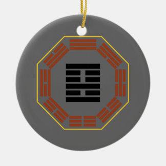 """I Ching Hexagram 22 Pi """"Adoring"""" Ceramic Ornament"""