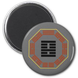 "I Ching Hexagram 22 Pi ""Adoring"" 2 Inch Round Magnet"