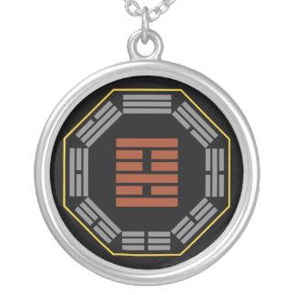 "I Ching Hexagram 22 Pi ""Adoring"" Round Pendant Necklace"