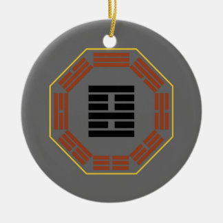 """I Ching Hexagram 22 Pi """"Adoring"""" Double-Sided Ceramic Round Christmas Ornament"""