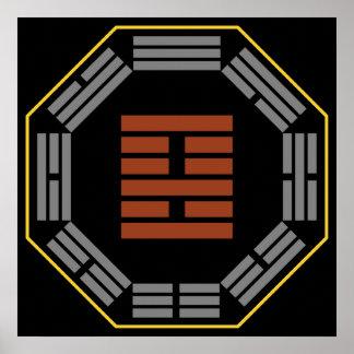 I Ching Hexagram 22 Pi Adoring Poster