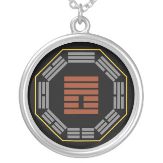 """I Ching Hexagram 25 Wu Wang """"Innocence"""" Silver Plated Necklace"""