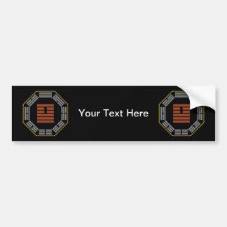 """I Ching Hexagram 26 Ta Ch'u """"Great Accumulating"""" Bumper Sticker"""