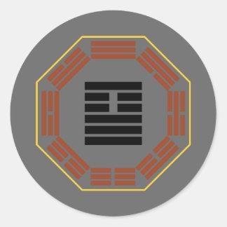 """I Ching Hexagram 26 Ta Ch'u """"Great Accumulating"""" Classic Round Sticker"""