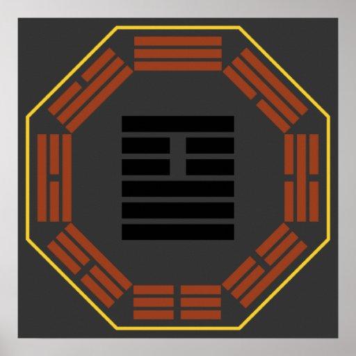 "I Ching Hexagram 26 Ta Ch'u ""Great Accumulating"" Poster"