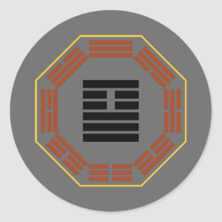 "I Ching Hexagram 26 Ta Ch'u ""Great Accumulating"" Round Sticker"