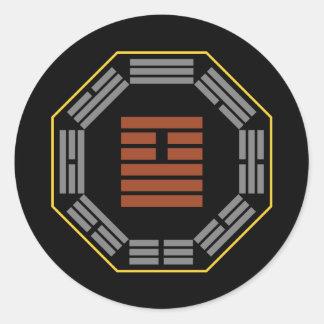 """I Ching Hexagram 26 Ta Ch'u """"Great Accumulating"""" Stickers"""