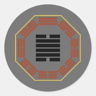 """I Ching Hexagram 28 Ta Kuo """"Great Exceeding"""" Classic Round Sticker"""
