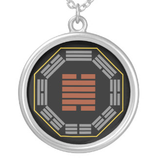 """I Ching Hexagram 28 Ta Kuo """"Great Exceeding"""" Round Pendant Necklace"""