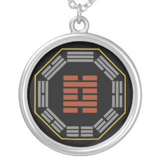"""I Ching Hexagram 29 K'an """"The Abyss"""" Round Pendant Necklace"""