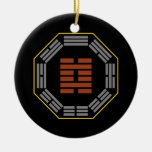 """I Ching Hexagram 29 K'an """"The Abyss"""" Christmas Ornaments"""