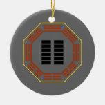 "I Ching Hexagram 2 K'un ""The Receptive"" Christmas Ornament"