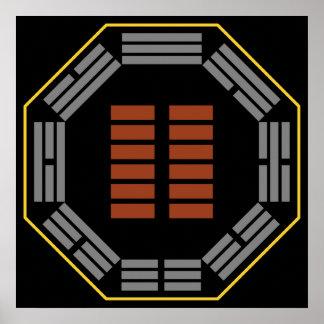 "I Ching Hexagram 2 K'un ""The Receptive"" Poster"