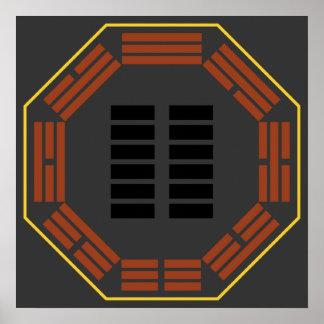 "I Ching Hexagram 2 K'un ""The Receptive"" Print"