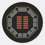"""I Ching Hexagram 2 K'un """"The Receptive"""" Round Sticker"""