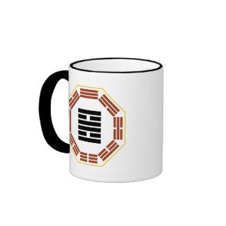 "I Ching Hexagram 30 Li ""Fire"" Ringer Coffee Mug"