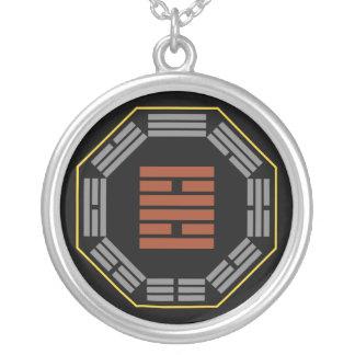 "I Ching Hexagram 30 Li ""Fire"" Round Pendant Necklace"