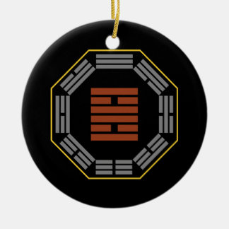 "I Ching Hexagram 30 Li ""Fire"" Double-Sided Ceramic Round Christmas Ornament"