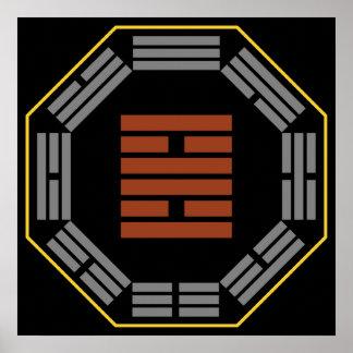 """I Ching Hexagram 30 Li """"Fire"""" Poster"""