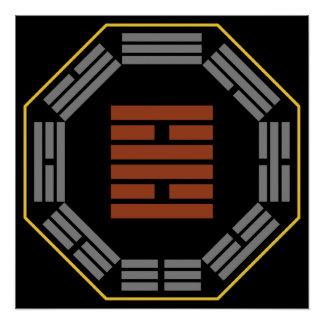 "I Ching Hexagram 30 Li ""Fire"" Print"