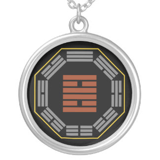"I Ching Hexagram 30 Li ""Fire"" Round Pendant Necklace"