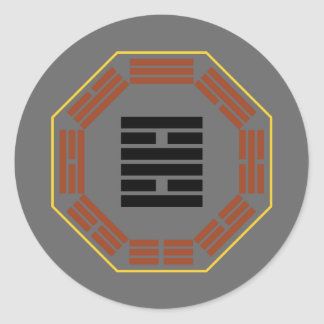 "I Ching Hexagram 30 Li ""Fire"" Classic Round Sticker"