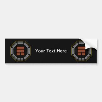 "I Ching Hexagram 33 Tun ""Retreat"" Bumper Sticker"