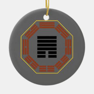 "I Ching Hexagram 33 Tun ""Retreat"" Ceramic Ornament"