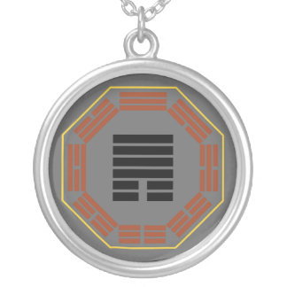 "I Ching Hexagram 33 Tun ""Retreat"" Round Pendant Necklace"